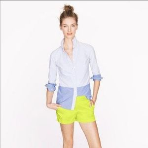 J.Crew lime green broken-in chino shorts - sz 4